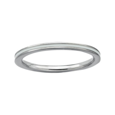 jcpenney.com | Personally Stackable Sterling Silver White Enamel Ring