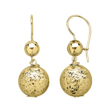 jcpenney.com | Infinite Gold™ 14K Yellow Gold Bead Drop Earrings