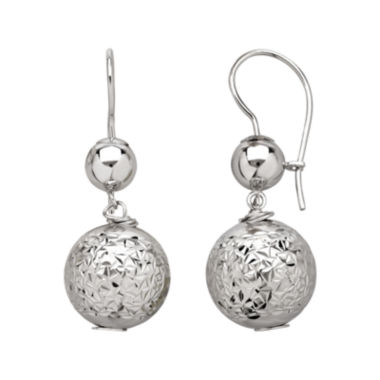 jcpenney.com | Infinite Gold™ 14K White Gold Bead Drop Earrings