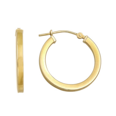 jcpenney.com | Infinite Gold™ 14K Yellow Gold Square-Edge Hoop Earrings