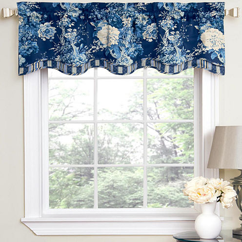 Waverly® Ballad Bouquet Rod-Pocket Tailored Valance
