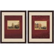 PTM Images™ Set of 2 Red Landscape Wall Art
