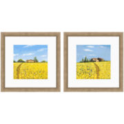 PTM Images™ Set of 2 Yellow Fields Wall Art