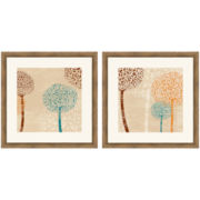 PTM Images™ Set of 2 Lots of Trees Wall Art