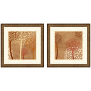 PTM Images™ Set of 2 Lots of Trees II Wall Art