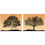 PTM Images™ Set of 2 Tree Canvas Wall Art