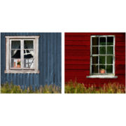 PTM Images™ Set of 2 Window Canvas Wall Art