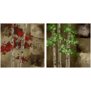 PTM Images™ Set of 2 Red Trees Wall Art