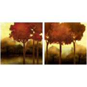 PTM Images™ Set of 2 Orange Tree Wall Art