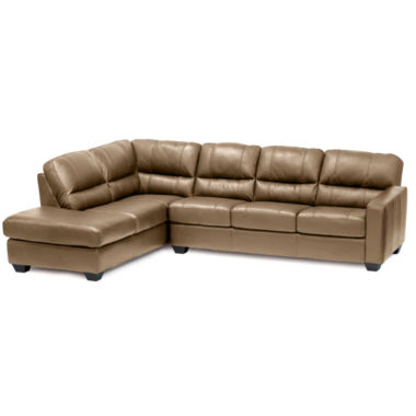 jcpenney.com | Leather Possibilities Track-Arm 2-pc. Left-Arm Corner Sectional