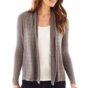 St. John's Bay® Long-Sleeve Flyaway Cardigan Sweater