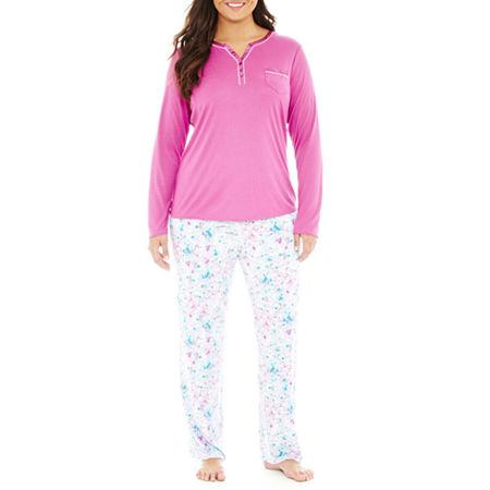 Liz Claiborne Long-Sleeve Pajama Set - Plus