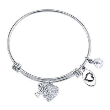 jcpenney.com | Footnotes Too® Stainless Steel Family Expandable Bangle Bracelet
