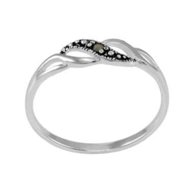 jcpenney.com | Marcasite Sterling Silver Twist Band Ring