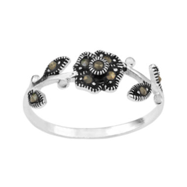 jcpenney.com | Marcasite Sterling Silver Flower and Vine Ring