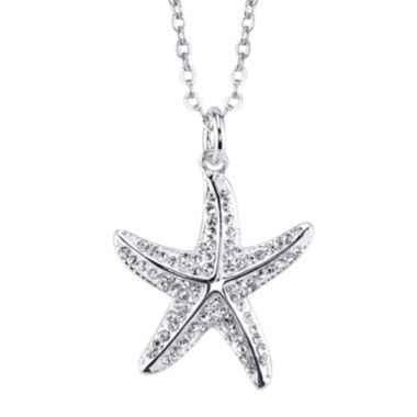 jcpenney.com | Crystal Sophistication™ Crystal Silver-Plated Starfish Pendant Necklace