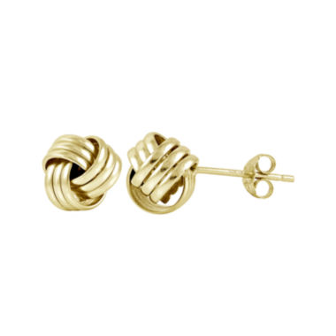 jcpenney.com | 14K Yellow Gold Over Sterling Silver Love Knot Earrings