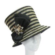 Whittall & Shon™ Star Brooch Gold-Tone Metallic-Sheen Bucket Hat