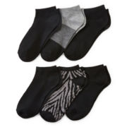 Mixit™ Womens 6-pk. Flat Knit Low-Cut Socks