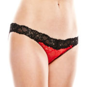 Flirtitude® V-Waist Lace Bikini Panties