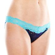 Flirtitude® V-Waist String Bikini Panties