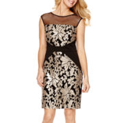 Studio 1® Sleeveless Sequin Illusion Dress