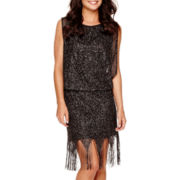 Scarlett Sleeveless Fringe Blouson Dress