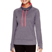adidas® Go To Fleece Long-Sleeve Funnel-Neck Pullover