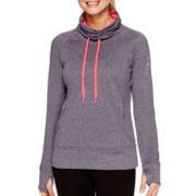 adidas® Go To Fleece Long-Sleeve Funnel-Neck Pullover