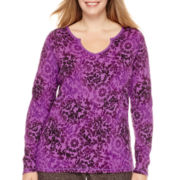 Made For Life™ Long-Sleeve Notch-Neck Thermal T-Shirt - Plus