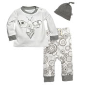 Burt's Bees Baby™ 3-pc. Bee Appliqué Layette Set - Baby Girls 3m-12m
