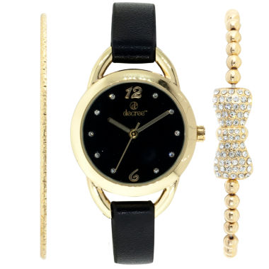jcpenney.com | Decree Womens Gold Tone Watch Boxed Set-Dcr270ls