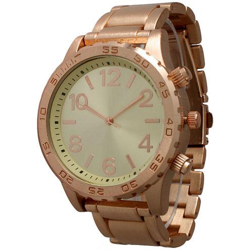 Olivia Pratt Womens Rose Goldtone Bracelet Watch-14200rose
