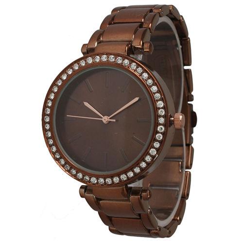 Olivia Pratt Womens Brown Bracelet Watch-14202coffee