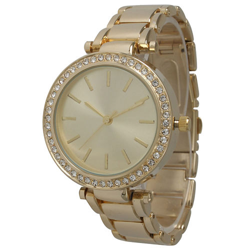 Olivia Pratt Womens Gold Tone Bracelet Watch-14202gold