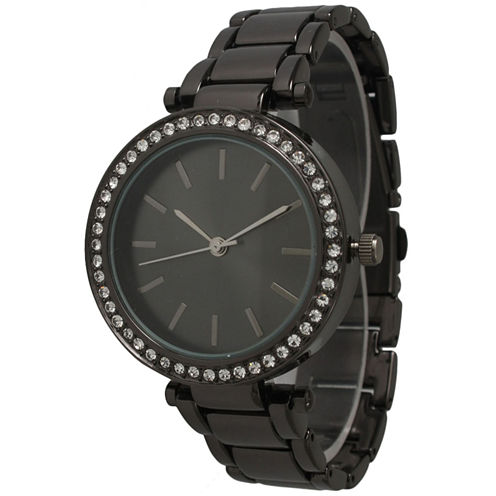 Olivia Pratt Womens Gray Bracelet Watch-14202gunmetal