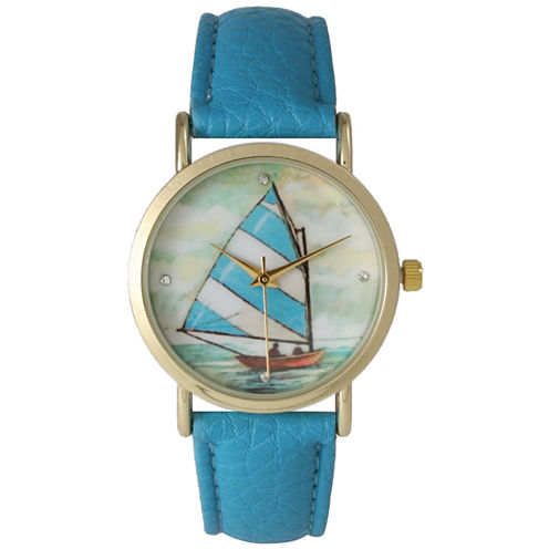 Olivia Pratt Womens Blue Strap Watch-15009turquoise