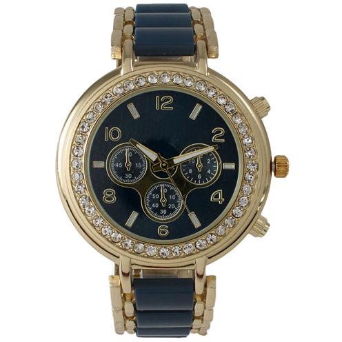 Olivia Pratt Womens Blue Bracelet Watch-26245navy