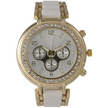 jcpenney.com | Olivia Pratt Womens White Bracelet Watch-26245white