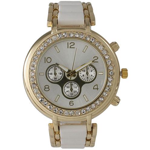 Olivia Pratt Womens White Bracelet Watch-26245white