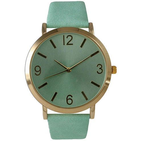 Olivia Pratt Womens Green Strap Watch-26268bmint