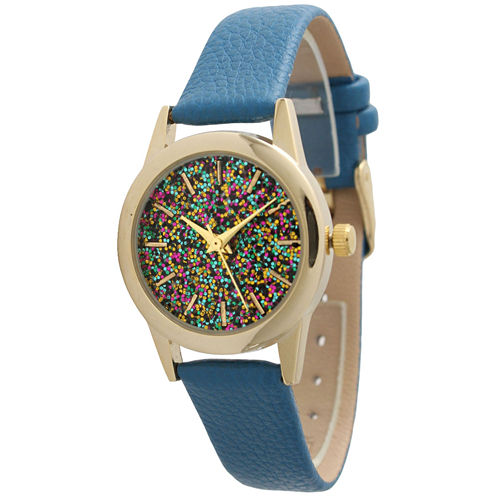 Olivia Pratt Womens Blue Strap Watch-40002blue