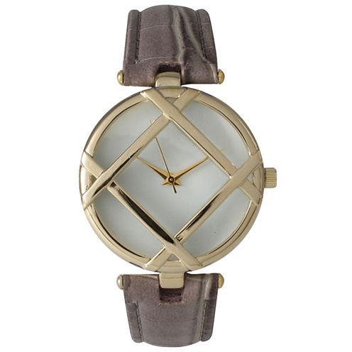 Olivia Pratt Womens Gray Bracelet Watch-14413grey