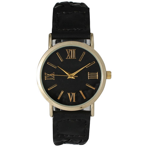 Olivia Pratt Womens Black Bracelet Watch-14654black