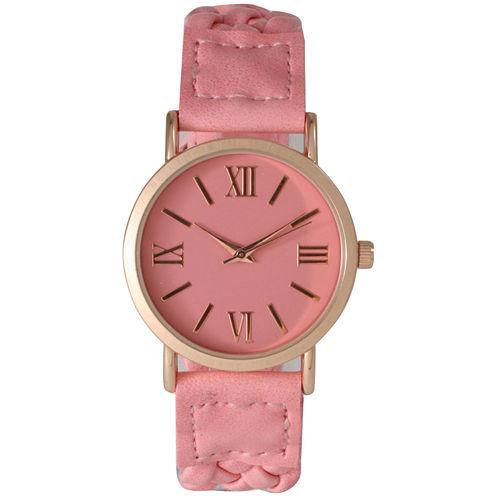 Olivia Pratt Womens Pink Bracelet Watch-14654bubblepink