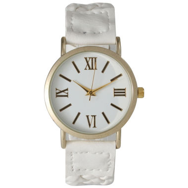jcpenney.com | Olivia Pratt Womens White Strap Watch-14654white