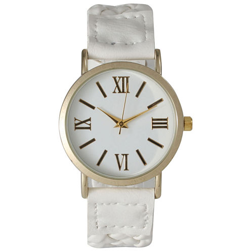 Olivia Pratt Womens White Strap Watch-14654white