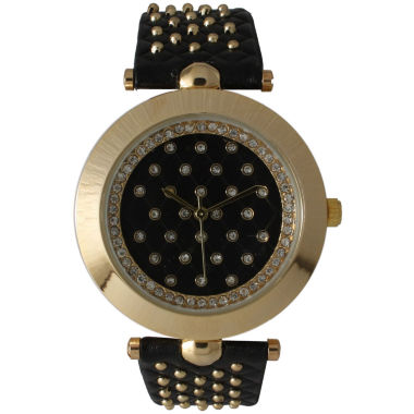 jcpenney.com | Olivia Pratt Womens Black Strap Watch-14703black