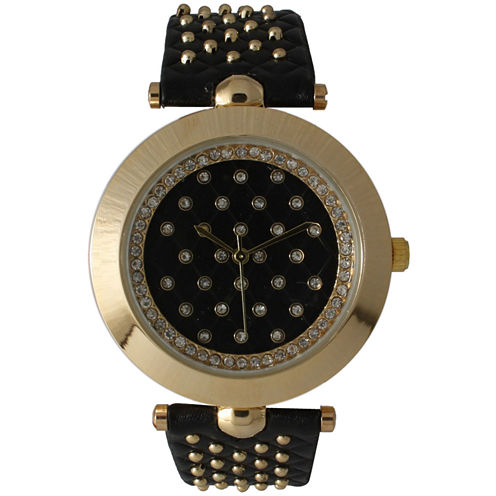 Olivia Pratt Womens Black Strap Watch-14703black