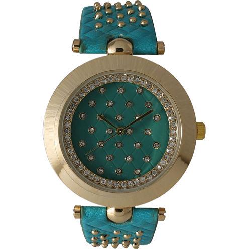 Olivia Pratt Womens Green Strap Watch-14703mint